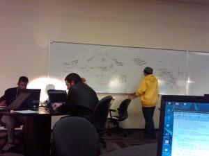 Team Recursive, hard at work.